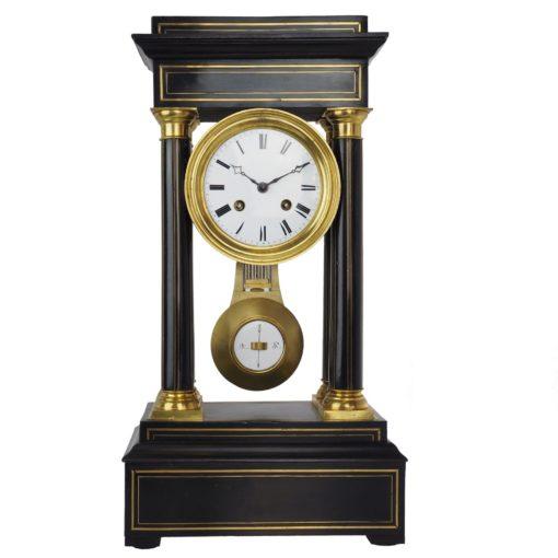 antyczny czarny zegar