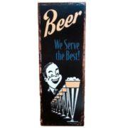retro szyld reklamowy piwa