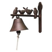 dzwon żeliwny zmotywem ptaków