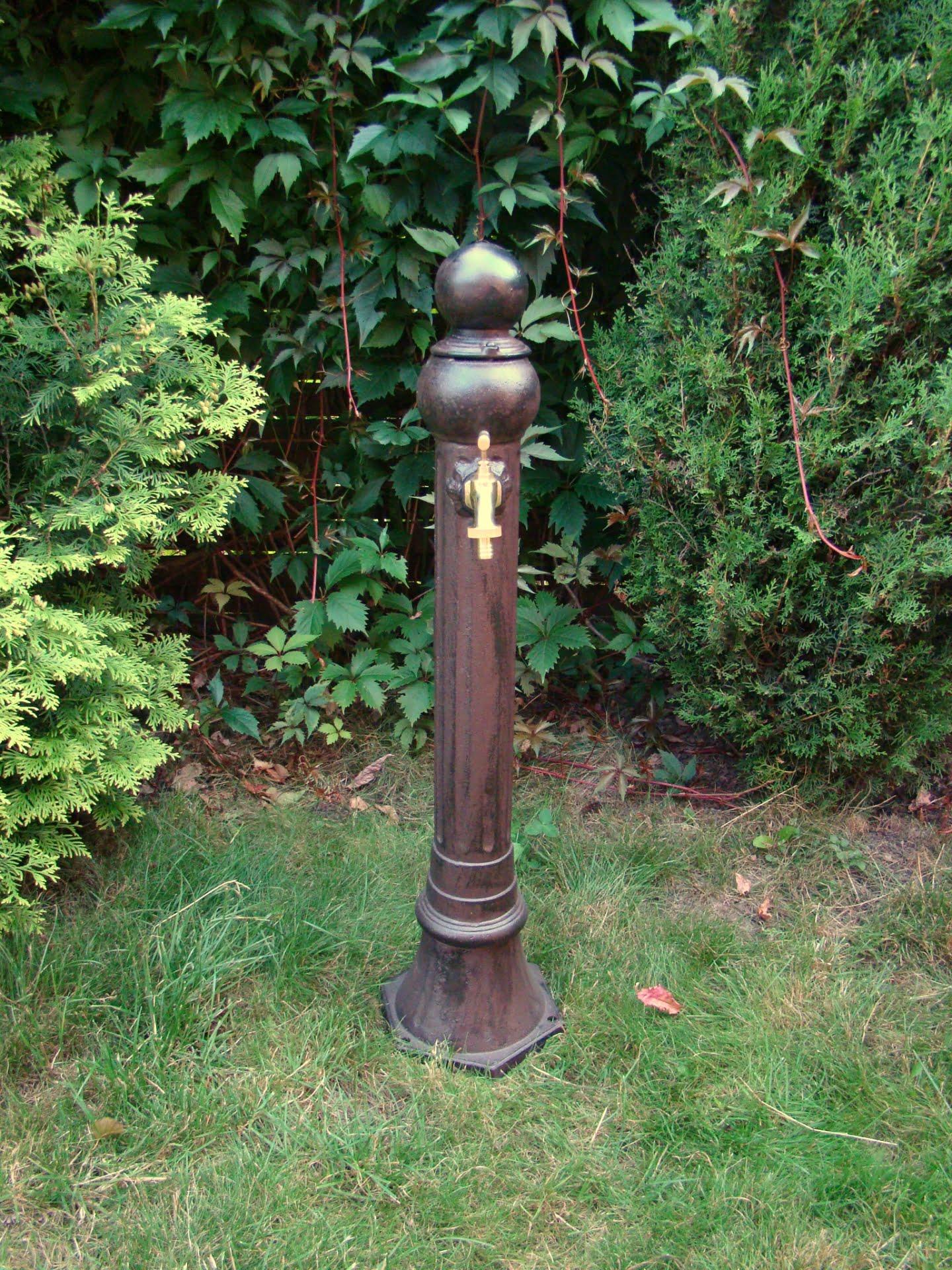 Smukły hydrant ogrodowy aluminiowy
