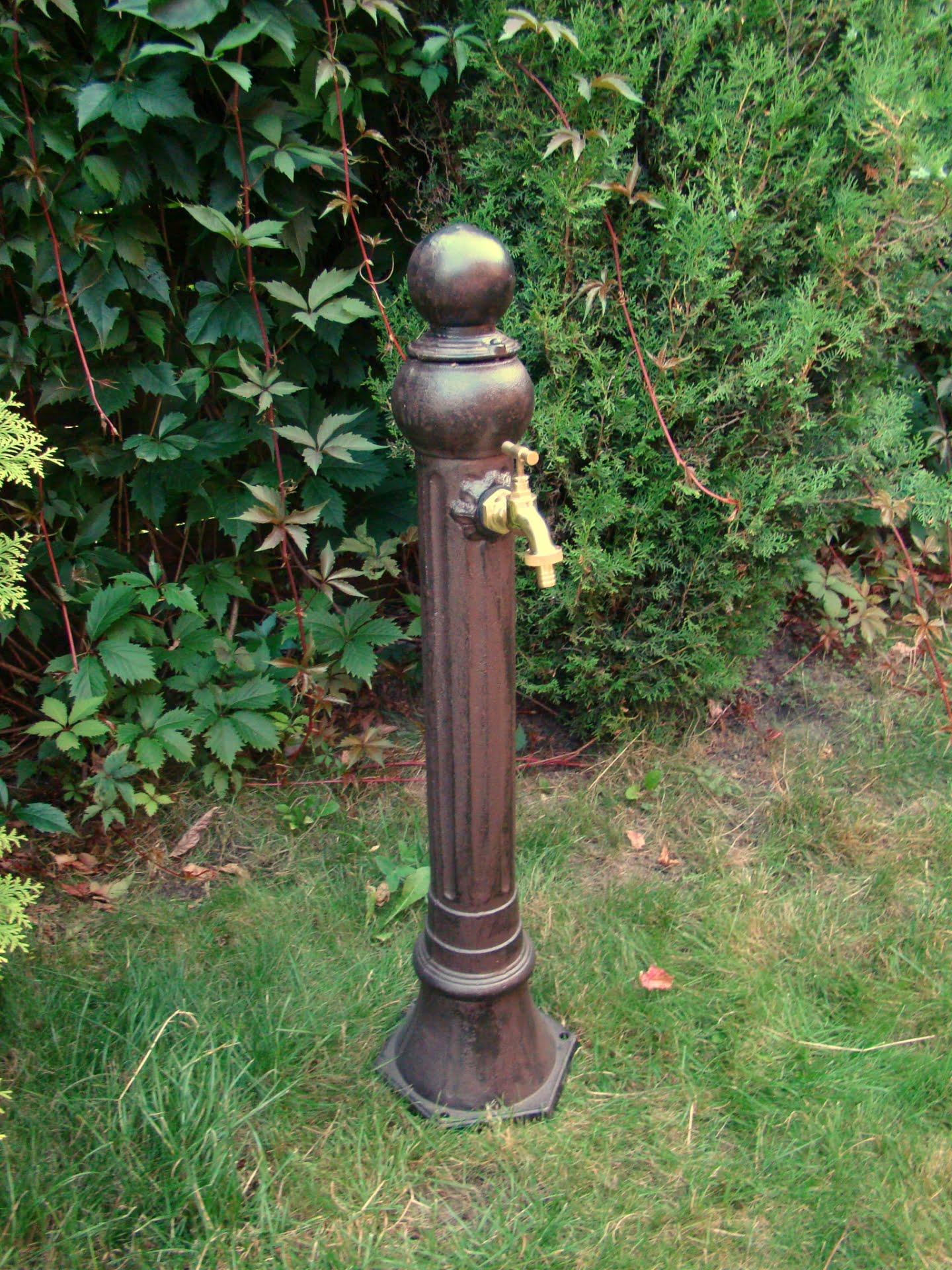 Wąski hydrant ogrodowy aluminiowy