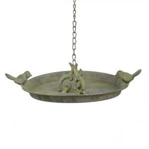 karmnik dla ptaków i poidełko z figurkami ptaków