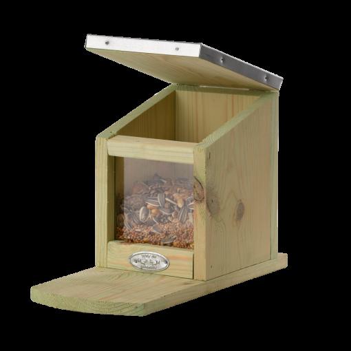 karmnik dla wiewiórek otwierany daszek Kraina Dekoracji