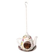 Karmnik ceramiczny w kształcie dzbanka do herbaty
