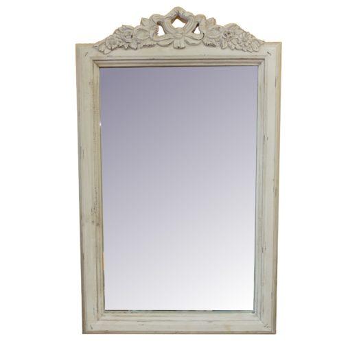 postarzane prostokątne lustro