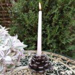 świecznik szyszka na świeczkę