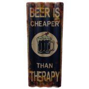 szyld retro metalowy reklamujący piwo