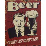 szyld metalowy dla piwa