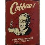 szyld retro reklamujący kawę