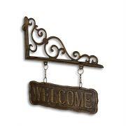 szyld z napisem welcome