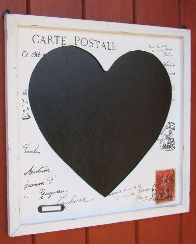 tablica retro z sercem