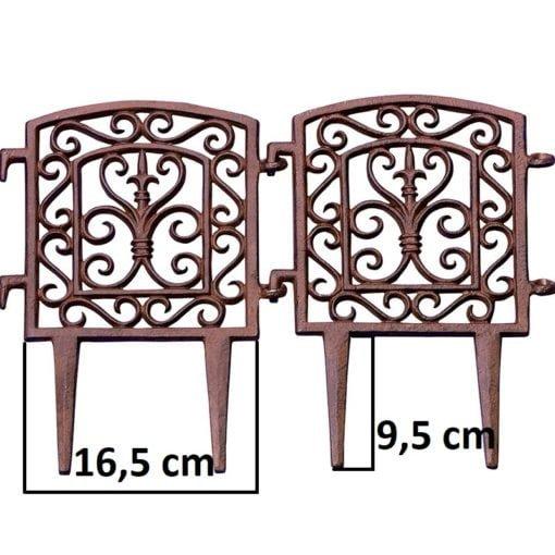 ogrodzenie żeliwne