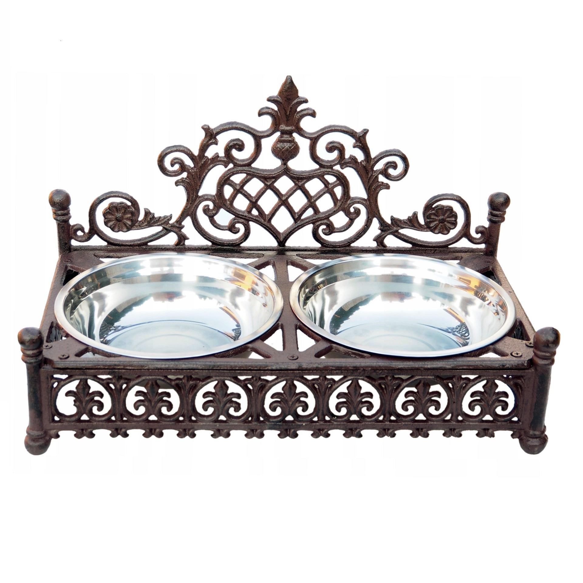 żeliwny stojak dekoracyjny na miski